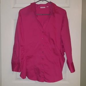 New York & Company hot pink top